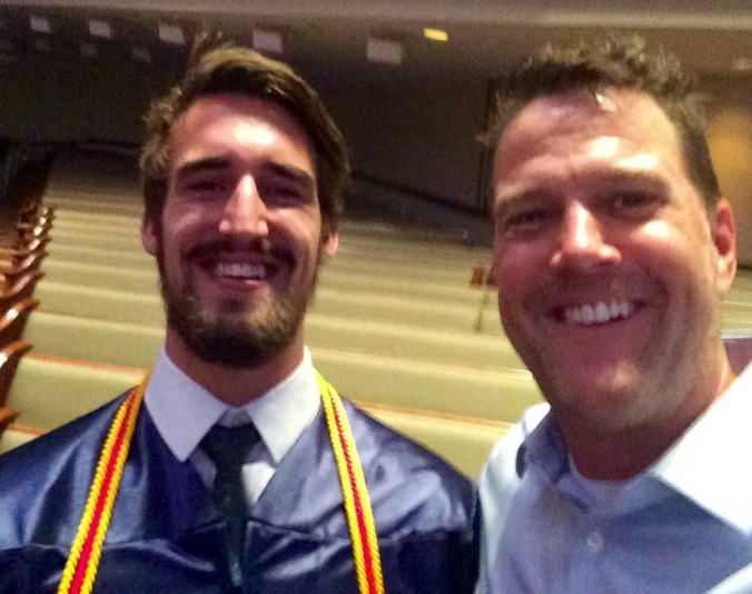 This is Hunter - We ate PB& J together when he was two.  Now, he has a better beard than I do. One of the many amazing 2015 graduates.