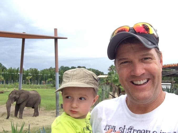 I learned it is silly to take a selfie with a child when an elephant is around.